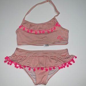 Betsey Johnson Girl's 2 Piece Swim Suit, 4/5